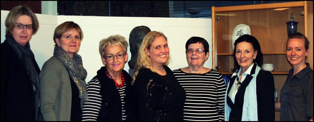Helga Einarsdóttir, Fanney Úlfljótsdóttir, Hjördís Jensdóttir, Hjördís Hreinsdóttir, Hulda Ólafsdóttir, Oddný Björgvinsdóttir, Ingibjörg Rafnar Pétursdóttir
