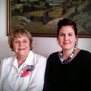 Helga Guðmundsdóttir og Jóhanna Gísladóttir